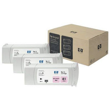 HP 81 Light Magenta Original Ink Cartridge 3PK C5071A
