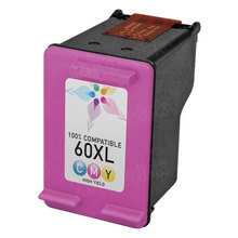 Remanufactured Replacement Ink Cartridge for Hewlett Packard CC644WN (HP 60XL) High-Yield Tri-Color
