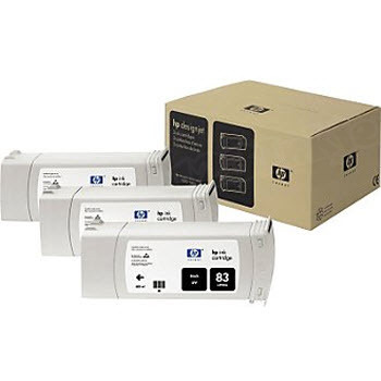 HP 83 Black Original Ink Cartridge 3PK C5072A