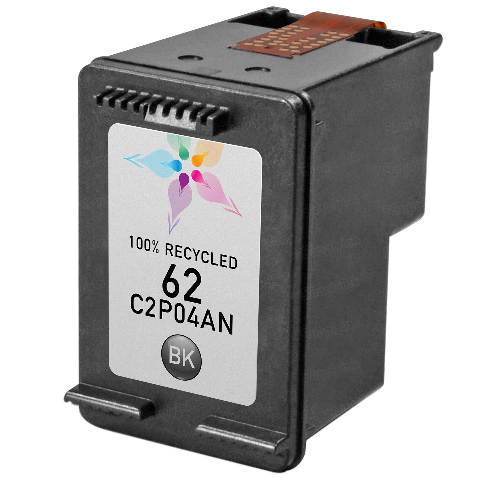 Remanufactured Replacement Black Ink for HP 62