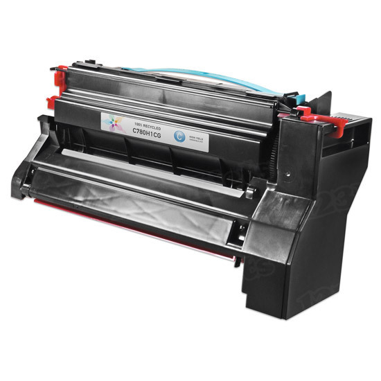 Compatible C780H1CG High Yield Cyan Toner for Lexmark
