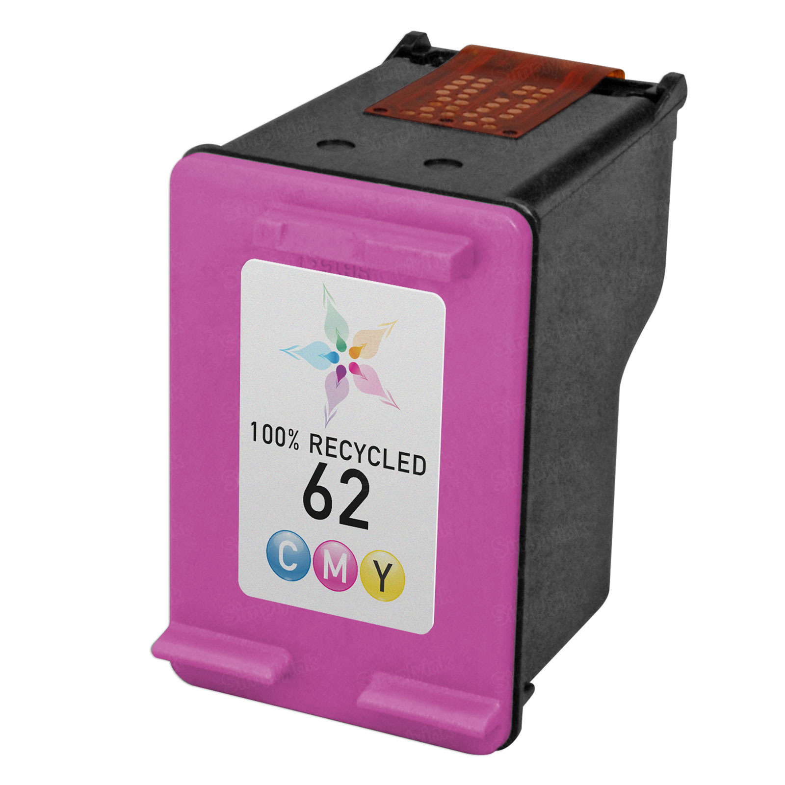 Remanufactured Replacement Color Ink for HP 62