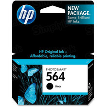 Genuine HP 564 Black Ink Cartridge in Retail Packaging (CB316WN)