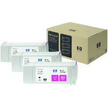 Original HP 83 Magenta Ink Cartridge 3-Pack in Retail Packaging (C5074A) High-Yield
