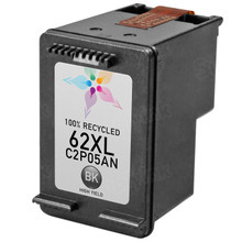 Remanufactured Replacement Ink Cartridge for C2P05AN (HP 62XL) High-Yield Black
