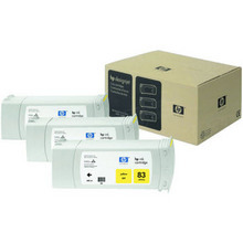 Original HP 83 Yellow Ink Cartridge 3-Pack in Retail Packaging (C5075A) High-Yield
