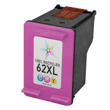 Remanufactured Replacement Ink Cartridge for C2P07AN (HP 62XL) High-Yield Color
