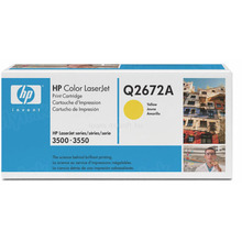 HP 309A (Q2672A) Yellow Original Toner Cartridge in Retail Packaging