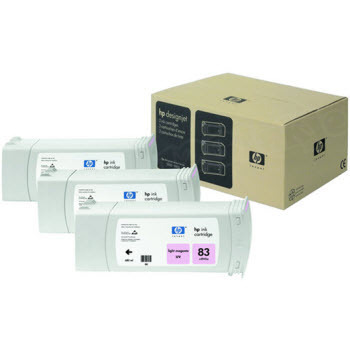 HP 83 Light Magenta Original Ink Cartridge 3PK C5077A