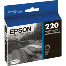 OEM Epson T220120 (220) DURABrite Ultra Black Ink Cartridge