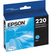OEM Epson T220220 (220) DURABrite Ultra Cyan Ink Cartridge
