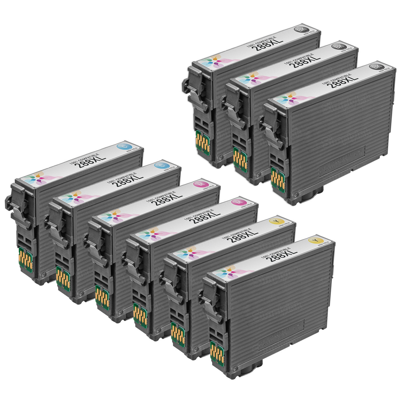 Epson T288XL Remanufactured Ink Set of 9