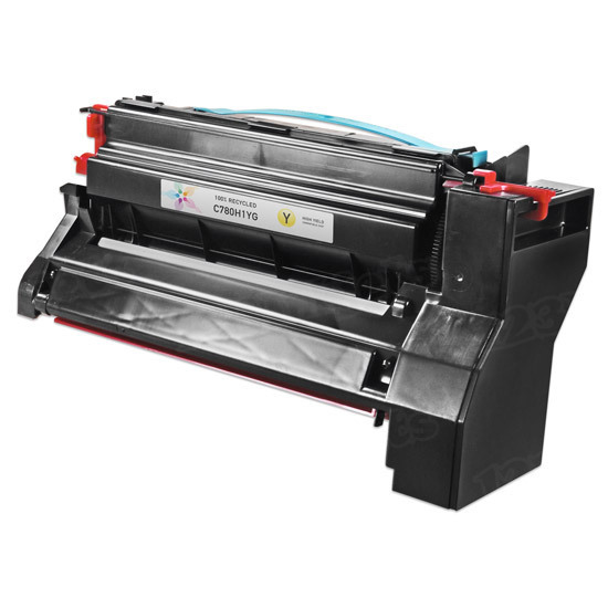 Compatible C782X1YG Extra High Yield Yellow Toner for Lexmark
