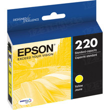 OEM Epson T220420 (220) DURABrite Ultra Yellow Ink Cartridge