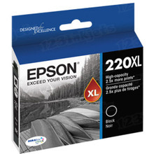 OEM Epson T220XL120 (220XL) High-Capacity DURABrite Ultra Black Ink Cartridge