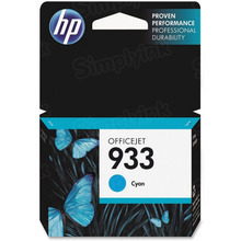 Original HP 933 Cyan Ink Cartridge in Retail Packaging (CN058AN)