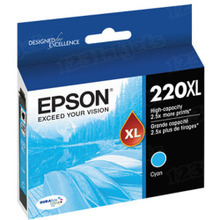 OEM Epson T220XL220 (220XL) High-Capacity DURABrite Ultra Cyan Ink Cartridge