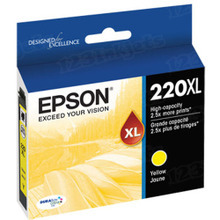OEM Epson T220XL420 (220XL) High-Capacity DURABrite Ultra Yellow Ink Cartridge