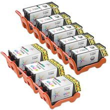 8-Pack of Compatible Ink Cartridges for Dell Series 23 High Yield Black & Color Ink for the V515w