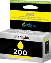 Lexmark #200 Yellow Inkjet Cartridge, OEM 14L0088