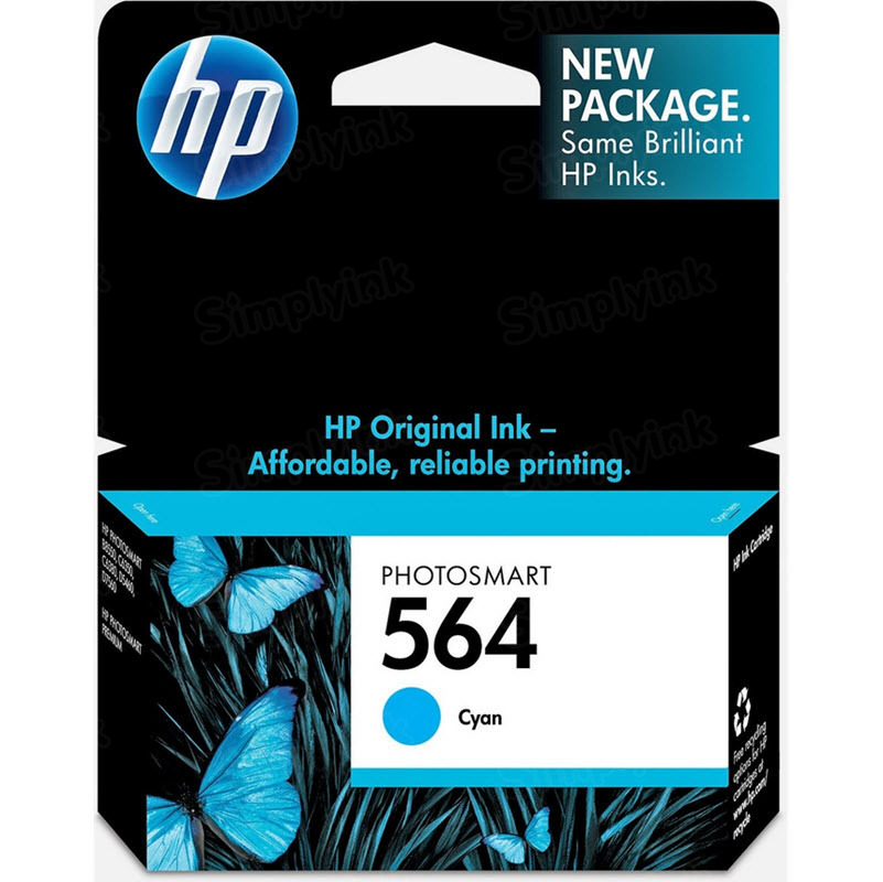 HP 564 Cyan Original Ink Cartridge CB318WN