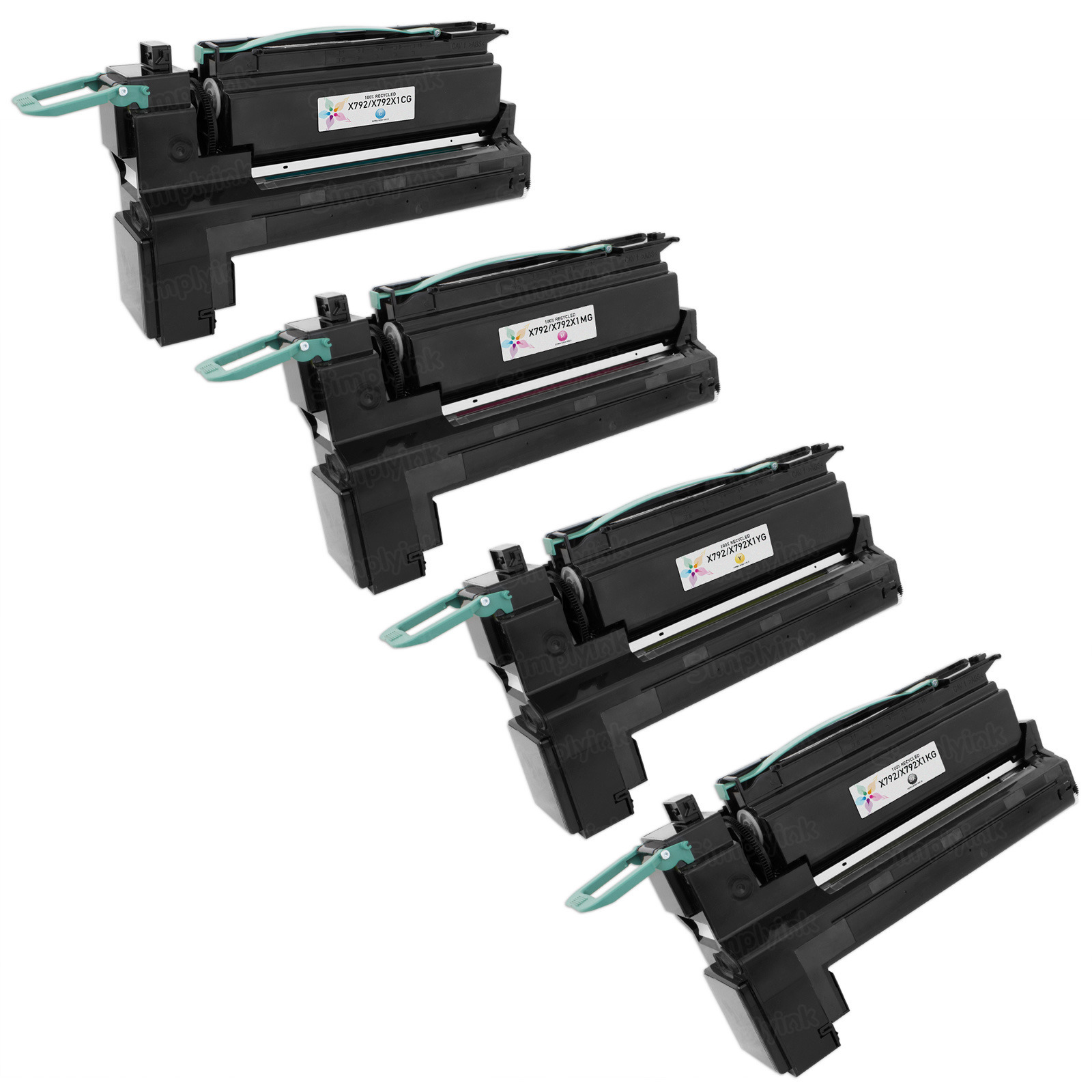 Lexmark Remanufactured EHY (Bk, C, M, Y) Toner Set, X792