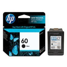 Genuine HP 60 Black Ink Cartridge in Retail Packaging (CC640WN)