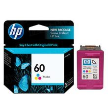 Genuine HP 60 Tri-Color Ink Cartridge in Retail Packaging (CC643WN)