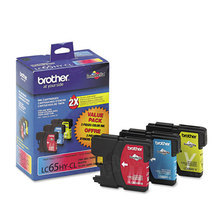 Brother LC653PKS C/M/Y OEM Ink Cartridges, High-Yield 3 Pack