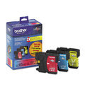 Brother OEM LC653PKS C/M/Y High-Yield Ink Cartridges, 3 Pack