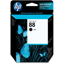 Original HP 88 Black Ink Cartridge in Retail Packaging (C9385AN)