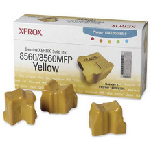 OEM Xerox 108R00725 / 108R725 Yellow Solid Ink 3-Pack