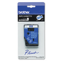 Brother TC64Z1 White on Blue OEM 3/8 Label Tape