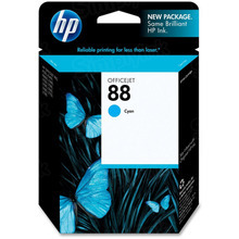 Original HP 88 Cyan Ink Cartridge in Retail Packaging (C9386AN)