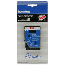 Brother TC54Z1 White on Red OEM 3/8 Label Tape