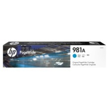 Original HP 981A Cyan Ink Cartridge in Retail Packaging (J3M68A)
