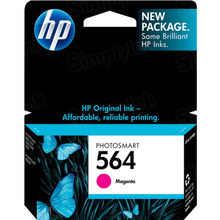 Genuine HP 564 Magenta Ink Cartridge in Retail Packaging (CB319WN)