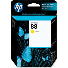 Original HP 88 Yellow Ink Cartridge in Retail Packaging (C9388AN)