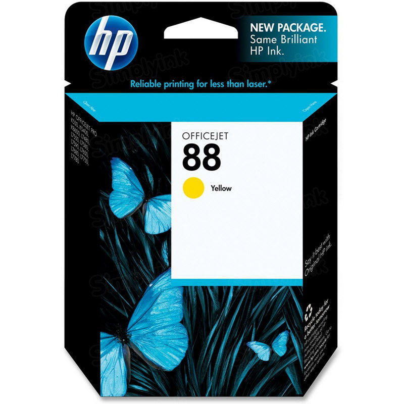 HP 88 Yellow Original Ink Cartridge C9388AN