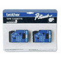 Brother TC-12 1/2 Blue on Clear OEM Tape