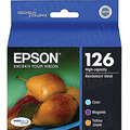 Epson 126 Color OEM Ink Cartridge 3PK