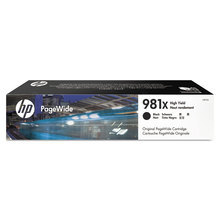 Original HP 981X High Yield Black Ink Cartridge in Retail Packaging (L0R12A)