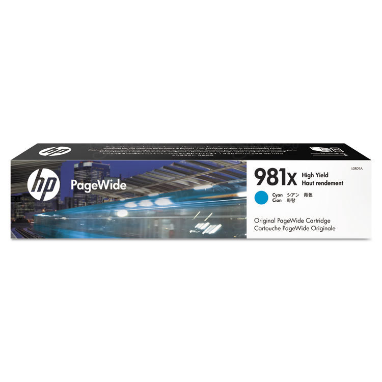 HP 981X High Yield Cyan Original Ink Cartridge L0R09A