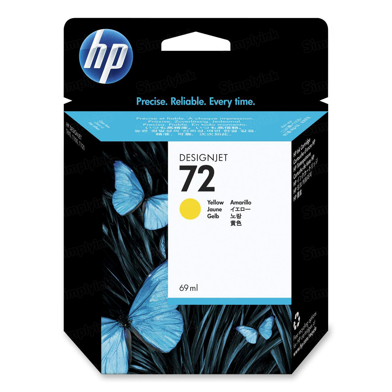 HP 72 Yellow Original Ink Cartridge C9400A