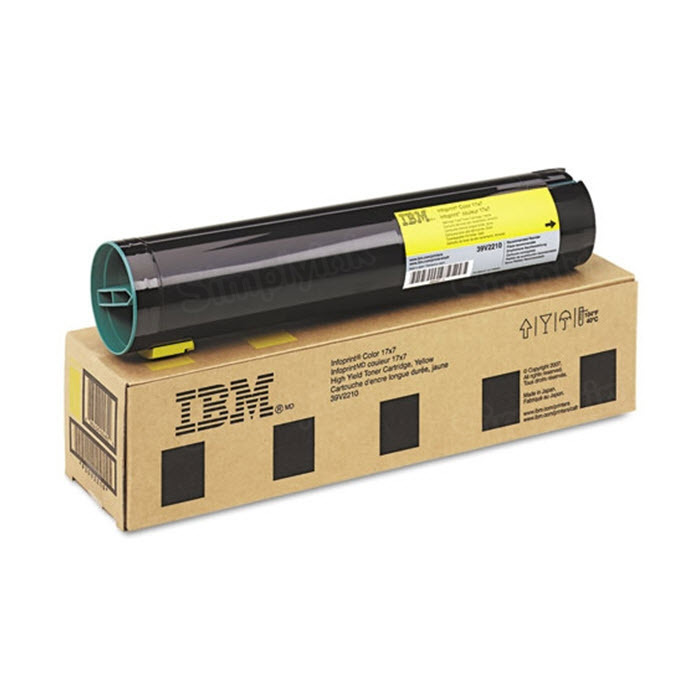 OEM IBM 39V2210 Yellow Toner Cartridge