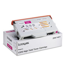 Lexmark OEM High Yield Magenta Laser Toner Cartridge, 20K1401 (C510 Series) (6.6K Page Yield)