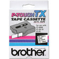 Brother TX-2411 3/4 Black on White OEM Tape