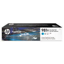 Original HP 981Y Extra High Yield Cyan Ink Cartridge in Retail Packaging (L0R13A)