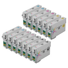 Remanufactured Epson Bulk Set of 13 Ink Cartridges 3 Black T098120 (T0981) and 2 each of: Cyan T099220 (T0992), Magenta T099320 (T0993), Yellow T099420 (T0994), Light Cyan T099520 (T0995) and Light Magenta T099620 (T0996)