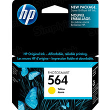 Genuine HP 564 Yellow Ink Cartridge in Retail Packaging (CB320WN)